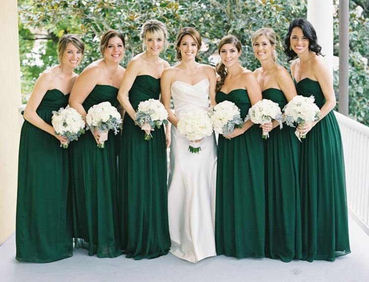 FOREST GREEN BRIDESMAID DRESSES-min