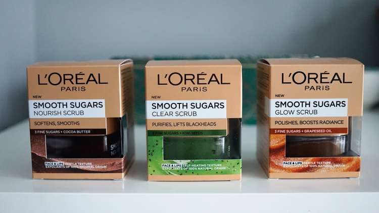 LOREAL SMOOTH SUGARS EXFOLIATOR REVIEW DRUGSTORE SKINCARE -min