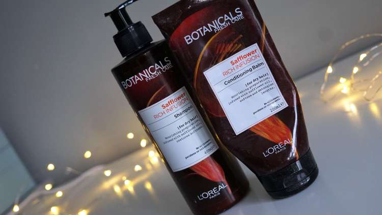 HAIRCARE EMPTIES POST WOULD I BUY AGAIN LOREAL BOTANICALS RANGE SAFFRON FLOWER-min